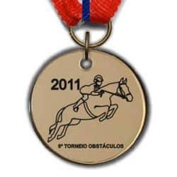 Medalhas acrílico metalizadas