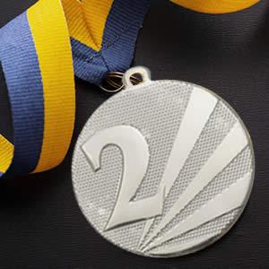 Medalhas personalizadas preço-prata