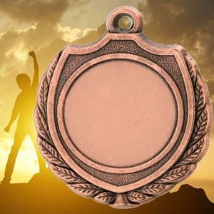 Medalhas desportivas em metal-bronze