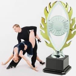 Taças desportivas personalizadas dança salão