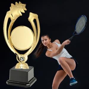 Taças desportivas personalizadas ténis