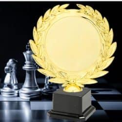 Taças desportivas personalizadas xadrez