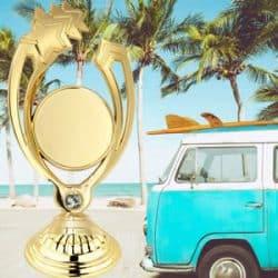 Troféu económico personalizado surf
