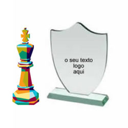 Troféu personalizado acrílico xadrez