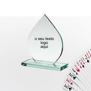 Troféu personalizado acrílico sueca